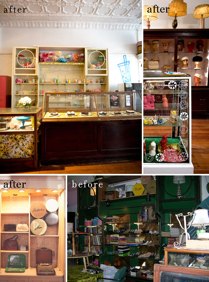 Red Velvet Vintage & Pretty Things before and after as featured on the Hatch Blog - as featured on the Hatch Blog - ATTRACT NEW BUSINESS DURING A RECESSION