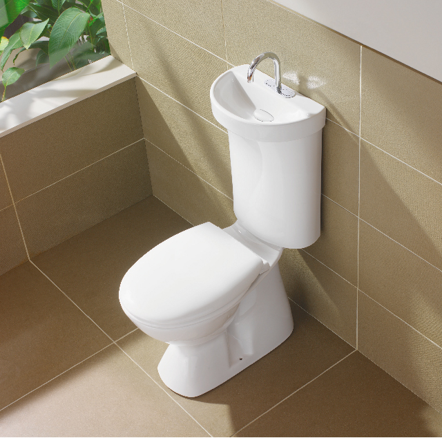 Caroma Smart Profile Greywater Recycle Toilet as featured on the Hatch Blog: COMMERCIAL DESIGN TRENDS PART 2 – SUSTAINABILITY IN INTERIOR DESIGN