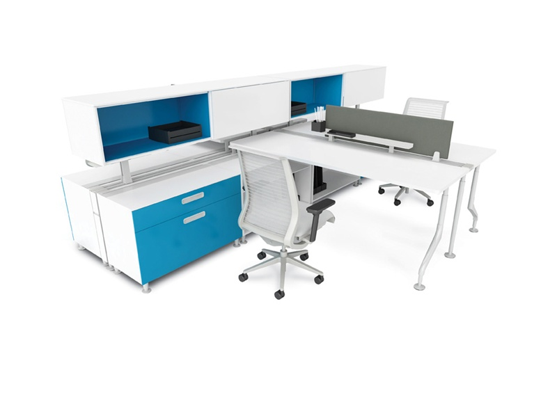 Condensed Workstation Design by Steelcase as featured on the Hatch Blog - COMMERCIAL DESIGN TRENDS PART 4 –TECHNOLOGY AND DESIGN