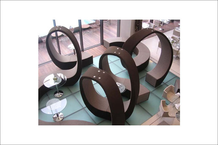 Cappellini Commercial Furniture, example of line as one of the elements of design.