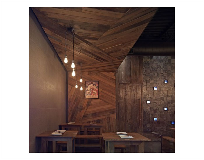 Guu Izakaya Interior Design by Dialogue 38, example of line as one of the elements of design.