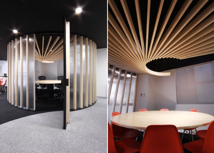 The boardroom designed by BAKOKO Architects in the image above is an  excellent example of radial symmetry. Notice how the focus is on the centre  of the ...