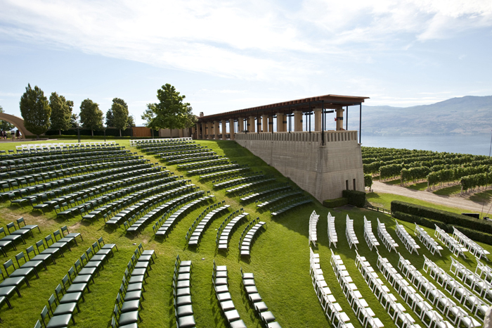 Okanagan design and activities for visitors - Mission Hill amphitheater.