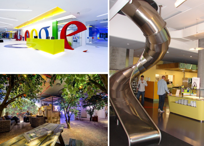 google office interior. Pictured From Top Left And Moving Clockwise: Google Reception Desk In An Office By Scott Brownrigg; A Fireman\u0027s Slide Interior I