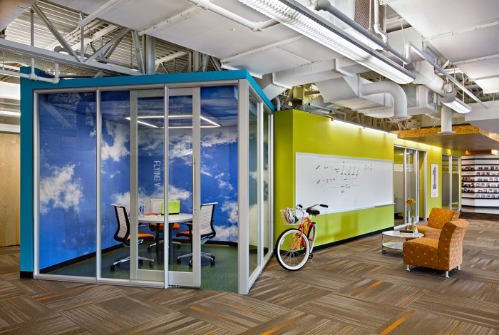 corporate office interior. Snagajob\u0027s Corporate Office By Baskervill Uses Bright Pops Of Colour And Varied Spaces To Create A Workplace That Will Appeal Their Employees. Interior