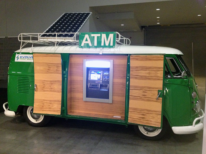 The cool ATM bank machine spotted at IDSWest 2013.