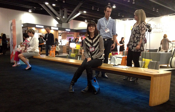 6 meter long bench by Daly Company at IDSWest 2013