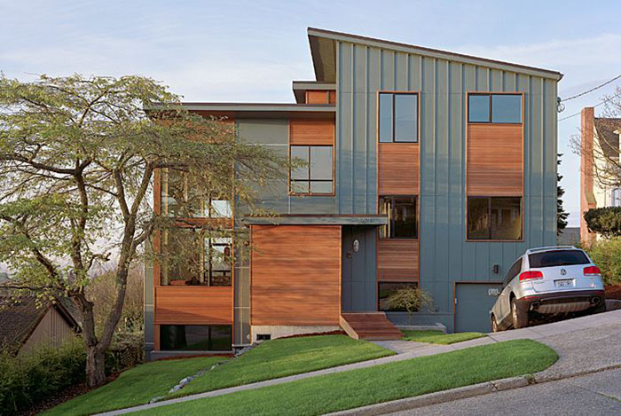 Inspiration for our modern industrial design of a home. Project by DeForest Architects.