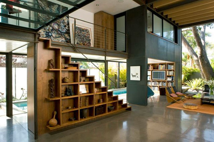 Inspiration for our modern industrial design project.  Home designed by Ehrlich Architects.