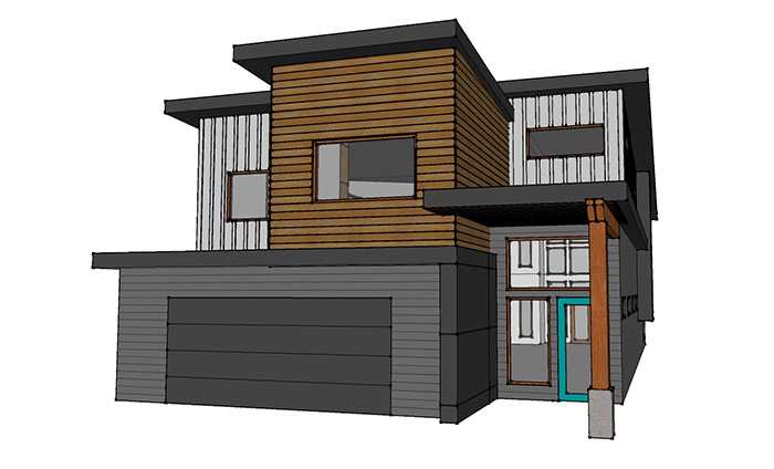 Early Design Renderings Of Our Special Project U2013 A Modern Industrial Home  In Kelowna, BC