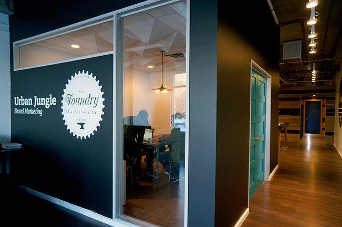 Urban Jungle office design by Hatch Interior Design.