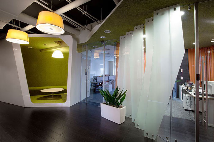 Kazan Yandex Office by za bor Architects as seen on the Hatch blog: Office Design for Introverts and Extroverts