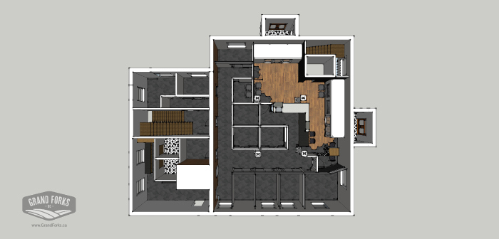 Floor Plan - Grand Forks City Hall Reconstruction - Hatch Interior Design