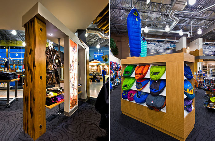 Custom Kiosk and Retail Displays for Grouse River Kelowna Retail Design by Hatch Interior Design