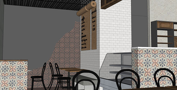 Il Tavolino Gelateria and Cafe Conceptual Design by Hatch Interior Design and Magpie Interiors
