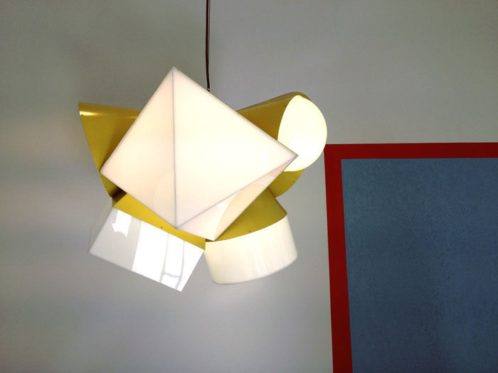 Interior Design in Vancouver: Geometric light fixture at Camper.