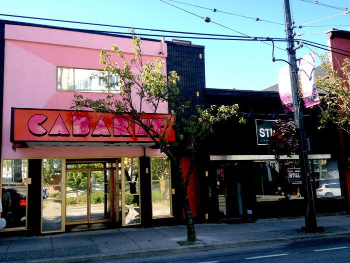 Design in Vancouver: Fox Cabaret facade.