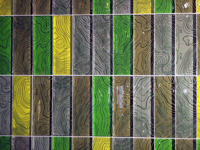 Interior Design in Vancouver: Geographical tile from the Interstyle booth at IDSWest 2014