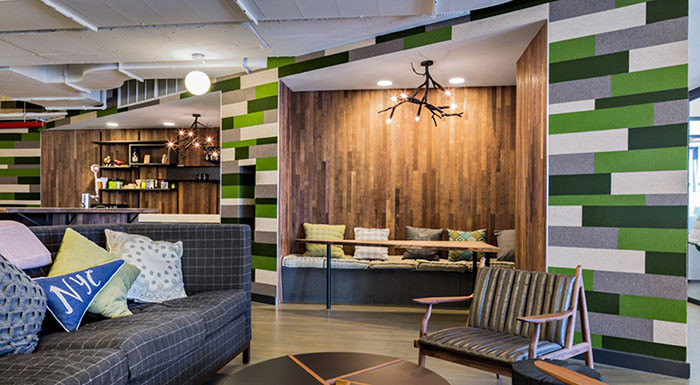 The WeWork Space By Spector Group Had A Bit Of A Varsity, Camp Vibe. We  Thought It Was A Fun Twist On Our Prediction For Interiors That Had A Cabin  Feel.