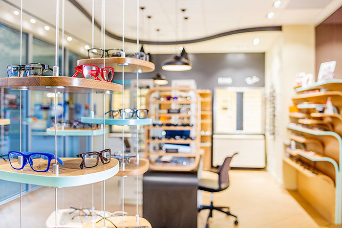 Nuvue Optometry by Hatch Interior Design. Modern design Kelowna.