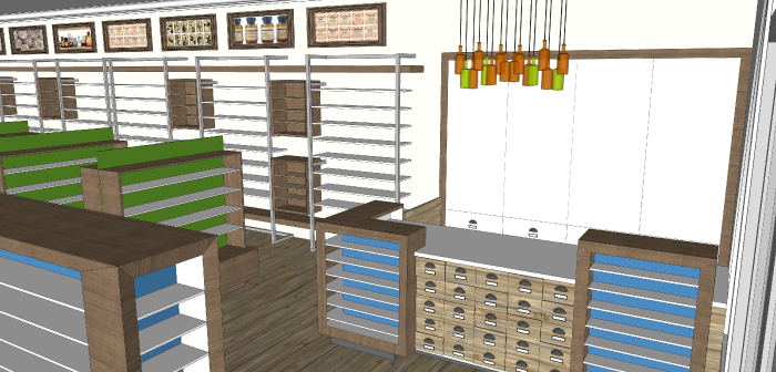 Cash Desk- Lakeside Pharmacy Design Concept_Hatch Interior Design Blog