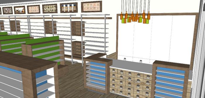 Cash Desk- Lakeside Pharmacy Design Concept_Hatch Interior Design Blog
