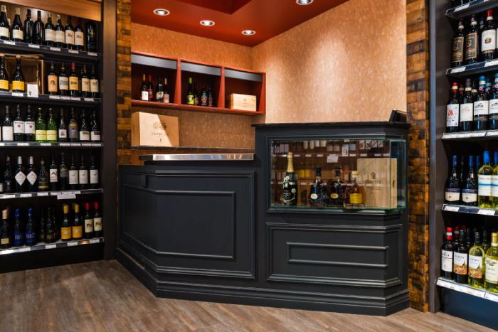 Cask and Barrel - liquor store interior design - Hatch Interior Design