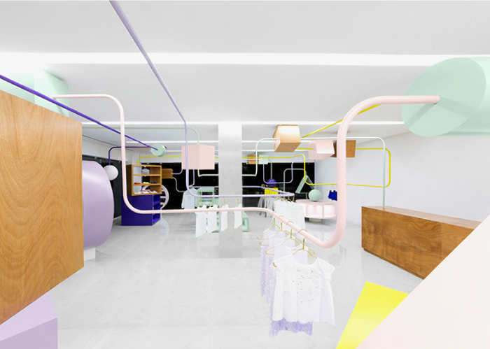 Kindo-children's-boutique-by-Anagrama- retail interior design, Hatch Interior Design Blog