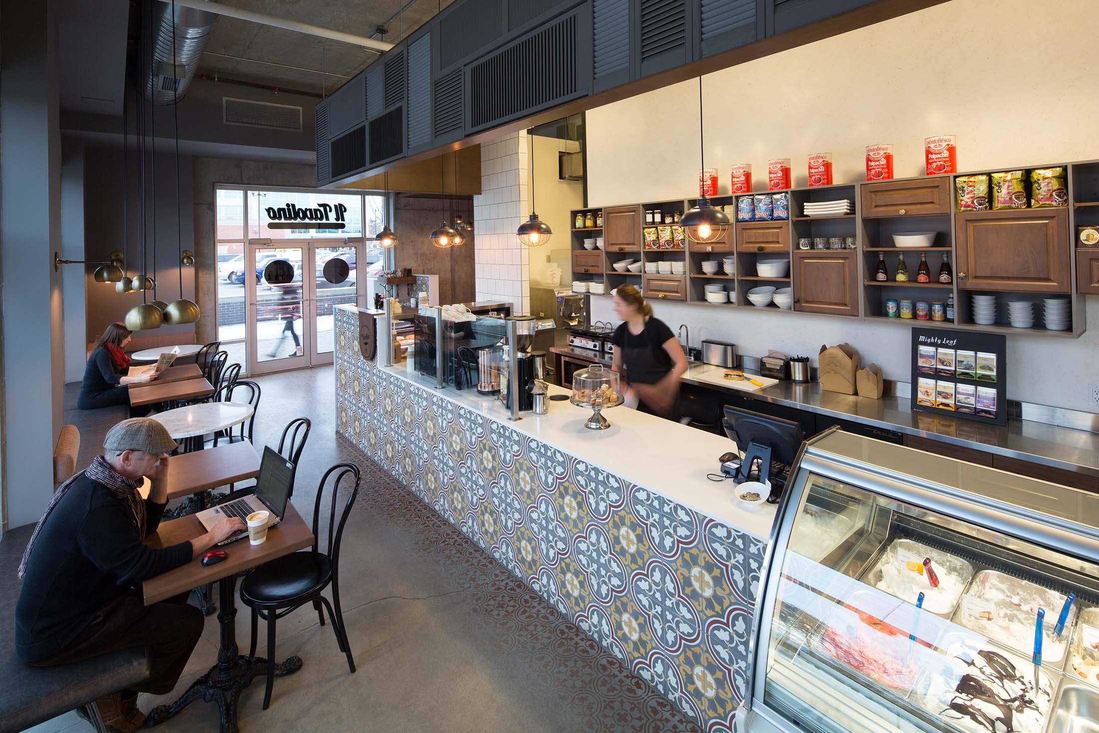 Il tavolino bistro and gelateria hatch design